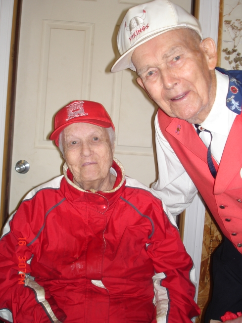 Suzie and Lloyd, two of the founding members of the Viking Chapter!