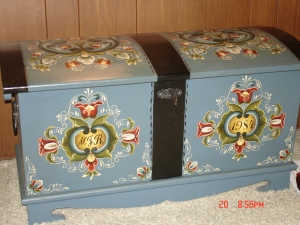 Trunk Handpainted by Marsha's Dad